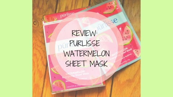 REVIEW: Purlisse Watermelon Energizing Sheet Mask